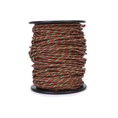 Κορδόνι χάρτινο δίχρωμο πράσινο κόκκινο 2mmX50μ