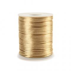 Κορδόνι σατέν ποντικοουρά χρυσό ανοιχτό 2mmX50m