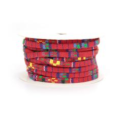 Κορδόνι υφασμάτινο πλακέ κόκκινο 5mm10m