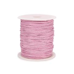 Κορδόνι κερωμένο ροζ 15mm 100μ