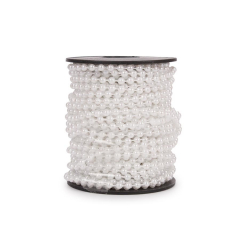 Κορδόνι πέρλα λευκό 4mm 18μ