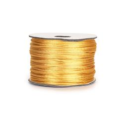 Κορδόνι σατέν ποντικοουρά χρυσό 2mmX50m