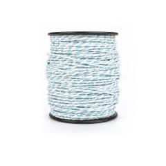 Κορδόνι χάρτινο δίχρωμο λευκό σιέλ 2mmX50m
