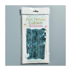 Κουρτίνα διακοσμητική σιέλ μεταλλιζέ 1x2μέτρα