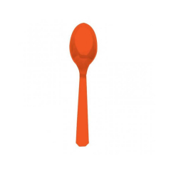 Πλαστικά κουτάλια πορτοκαλί 10τεμ