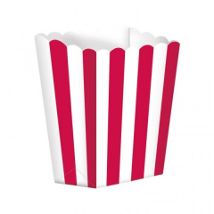 Κουτί pop corn ριγέ κόκκινο 5τμχ