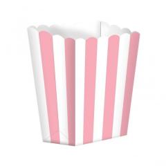 Κουτί pop corn ριγέ ροζ 5τμχ