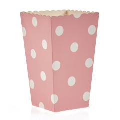 Κουτί pop corn πουά σε χρώμα ρόζ