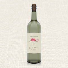 Ετικέτα Κρασιού MyMastoras Watercolor Roses