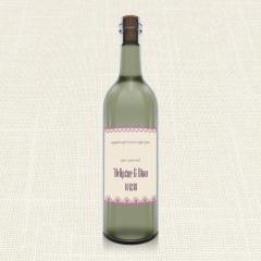 Ετικέτα Κρασιού MyMastoras Lace edge