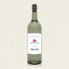 Ετικέτα Κρασιού MyMastoras Rose polka dots