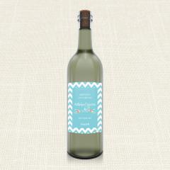 Ετικέτα Κρασιού MyMastoras Blue ZigZag