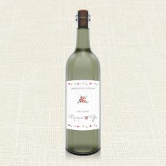 Ετικέτα Κρασιού MyMastoras Dots Flowers