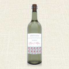 Ετικέτα Κρασιού MyMastoras Roses Patern