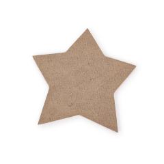 Ξύλινο αστεράκι φυσικό 8εκ 10τεμ