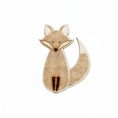 Ξύλινο διακοσμητικό αλεπού 9x11εκ 5τεμ