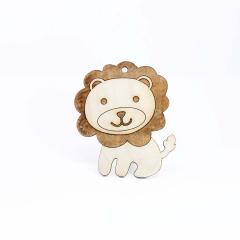 Ξύλινο διακοσμητικό λιονταράκι 10x11εκ 5τεμ