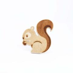 Ξύλινο διακοσμητικό σκίουρος 9x10εκ 5τεμ