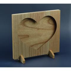 Ξύλινο κουτί ευχών καρδιά