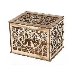 Ξύλινο κουτί ευχών σε θέμα κλουβί πουλιών