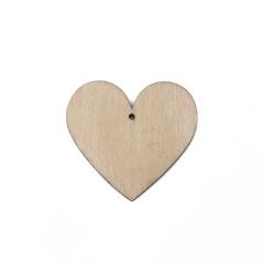 Ξύλινη καρδιά με τρύπα 4εκ 10τεμ