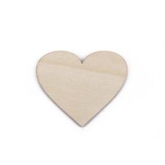 Ξύλινη καρδιά lasercut 5x6εκ 10τεμ