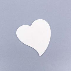 Ξύλινη καρδιά λευκή 7εκ 10τεμ