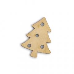 Ξύλινο χριστουγεννιάτικο δέντρο 75x55mm 2τεμ