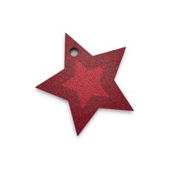 Ξύλινο αστέρι κόκκινο 40x40mm 5τεμ