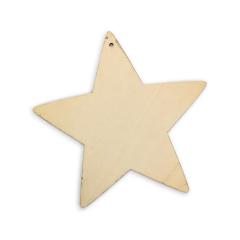 Ξύλινο αστέρι φυσικό χρώμα 24εκ