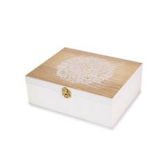 Ξύλινο κουτί με ανάγλυφο σχέδιο 19x16εκ