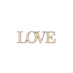 Ξύλινο lasercut Love 9x3εκ 2τεμ