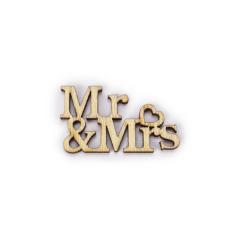 Ξύλινο Mr & Mrs 32x20mm 5τεμ