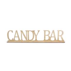 Ξύλινο σταντ Candy Bar 60x12εκ.