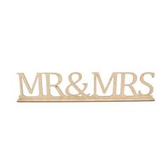 Ξύλινο σταντ Mr&Mrs 60x12εκ