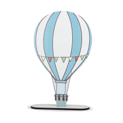 Ξύλινο διακοσμητικό στάντ αερόστατο 30εκ