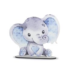 Ξύλινο διακοσμητικό στάντ ελεφαντάκι 30εκ