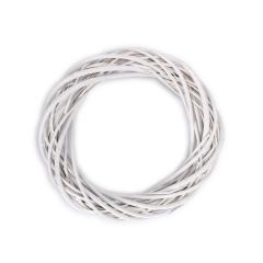 Στεφάνι μπαμπού λευκό 35x10εκ