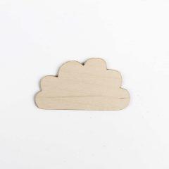 Ξύλινο διακοσμητικό συννεφάκι 80x45mm 5τεμ