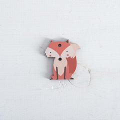 Ξύλινο διακοσμητικό αλεπού 35x40mm 5τεμ
