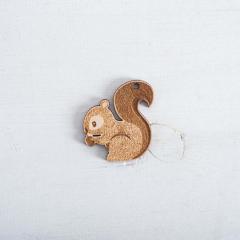 Ξύλινος διακοσμητικός σκίουρος 50x48mm 5τεμ
