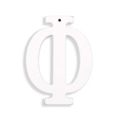 Ξύλινο γράμμα Φ λευκό 6εκ