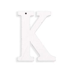 Ξύλινο γράμμα Κ λευκό 6εκ
