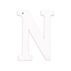 Ξύλινο γράμμα Ν λευκό 6εκ