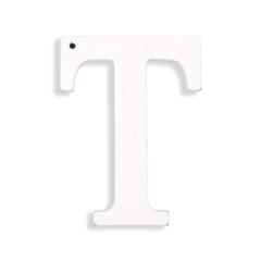 Ξύλινο γράμμα Τ λευκό 6εκ