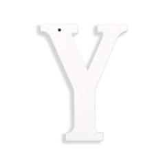 Ξύλινο γράμμα Υ λευκό 6εκ