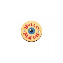 Στρογγυλό στοιχείο ξύλινο Hello March 20mm 3τεμ
