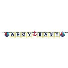 Γιρλάντα γράμματα Ahoy Baby 170εκ.