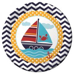 Πιάτα φαγητού Ahoy Matey 8τεμ.