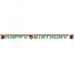 Γιρλάντα γράμματα Happy Birthday Spider-Man 2.2μ.